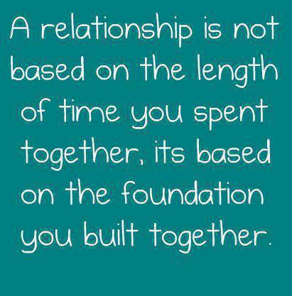 foundation of a relationship